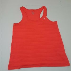 nike dri fit orange racer back top size medium